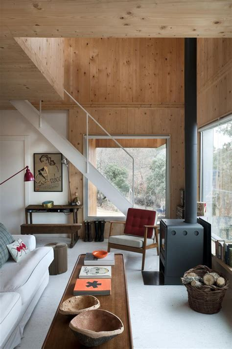 small forest cabin designed  built  environmental