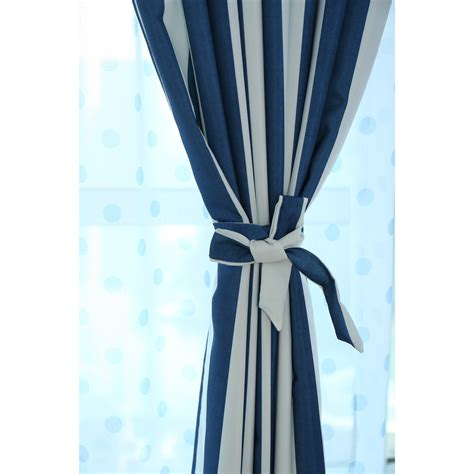 blue and white stripe curtains wholesale blue and white striped curtains clearance
