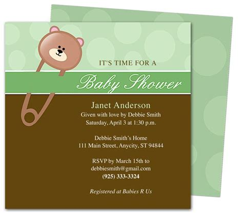 invitation templates for pages mac 42 best images about baby shower invitation templates on