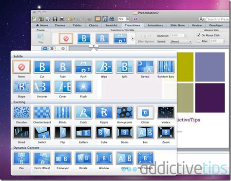 slide transitions in powerpoint 2011 for mac powerpoint 2011 for mac review what s new