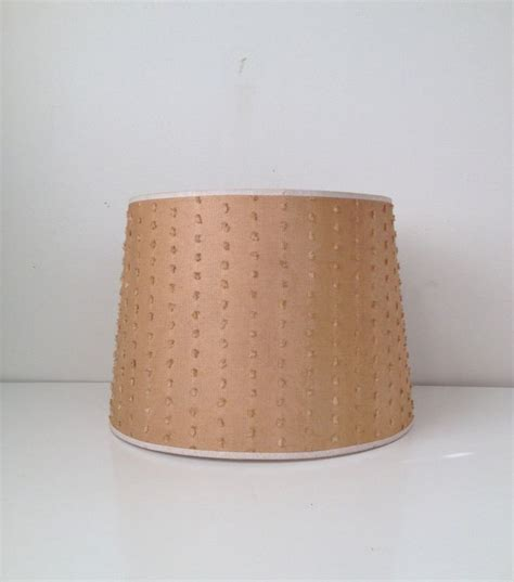 Vintage L Shade Flared Drum Shade Brown With