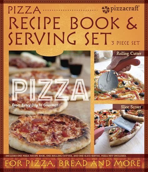 the pizza 101 recipe book books pc0221 pizza recipe book serving set the companion