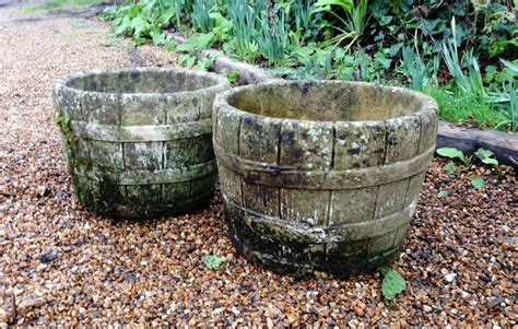 Planters Company by Pair Of Small Weathered Planters In From The Vintage