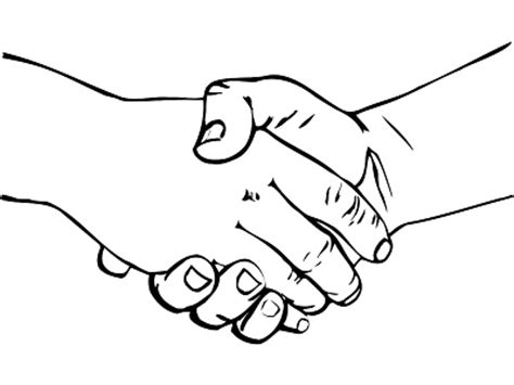 coloring page shaking hands shaking hands drawing clipart best
