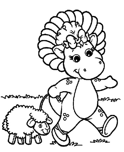 barney coloring pages 10