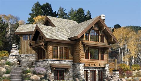 Log And Stone House Plans | stone and log house plans joy studio design gallery