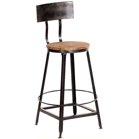 Wooden Bar Stool With Back Metal Bar Stools With Backs Decofurnish