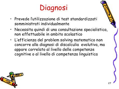 test per la discalculia discalculia