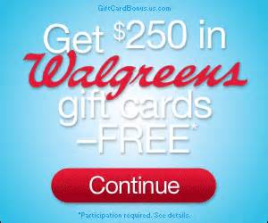 Home Goods Gift Cards At Walgreens - get a free 250 walgreens gift card get a free stuff online free stuff free coupon