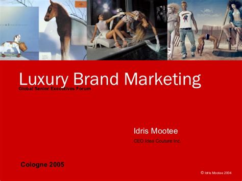 Global Mba Luxury Brand Management by Luxury Brand Marketing Keynote Brand Masterclass Week 3