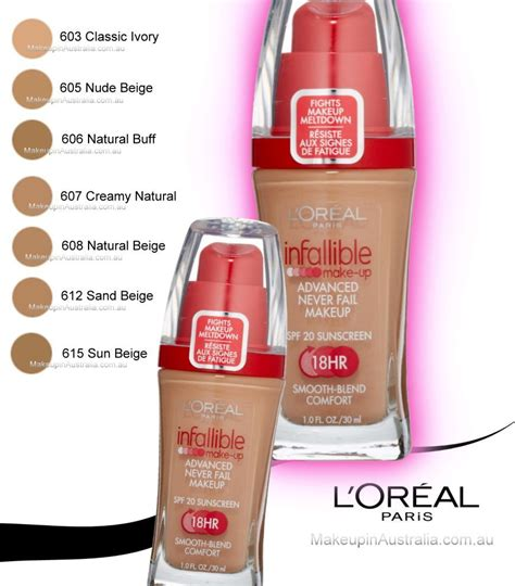 loreal infallible makeup liquid foundation 607