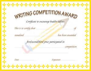 competition certificate template writing competition award certificate template for ms word