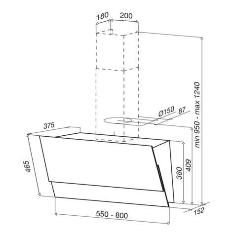 cappa best cappa da parete best split 80 cm aspirazione perimetrale