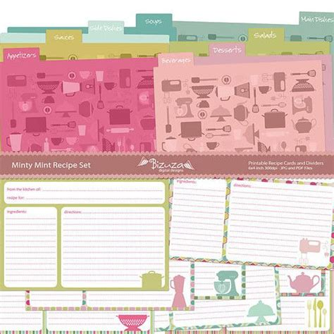 printable greeting card dividers 17 best images about recipe cards on pinterest recipe