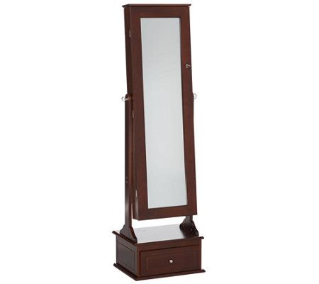 safekeeper jewelry armoire safekeeper jewelry cabinet with drawer by lori greiner