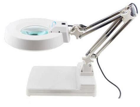 magnifying desk l led 110v 10x loupes glass lens diopter desk table lighting led