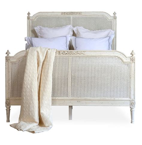 french country bed blanka french country antique white elegant caned king bed
