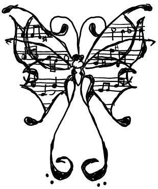 butterfly music note tattoo designs chrysanthemum design and notes on