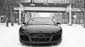 audi r8 in snow wallpapers hd wallpapers
