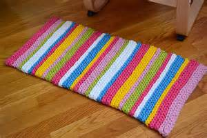 Crochet In Color Stripey Spring Rug Instructions How To Crochet A Rug