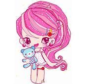 Little Anime Girl Holding A Teddy Bear Gif By Attoyou