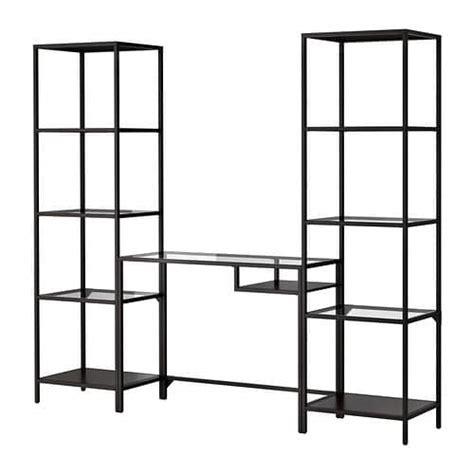 metal shelves ikea vittsj 214 shelving unit with laptop table ikea