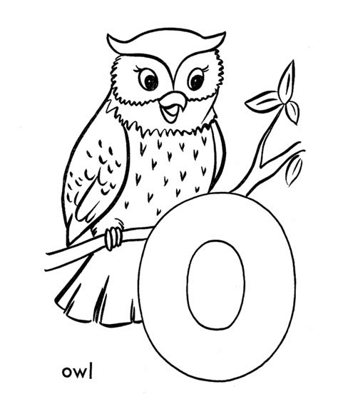 owl coloring pages preschool abc primary coloring activity sheet letter o is for owl