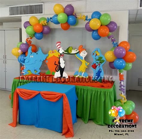 Dr Suess Decorations decorations miami balloon sculptures