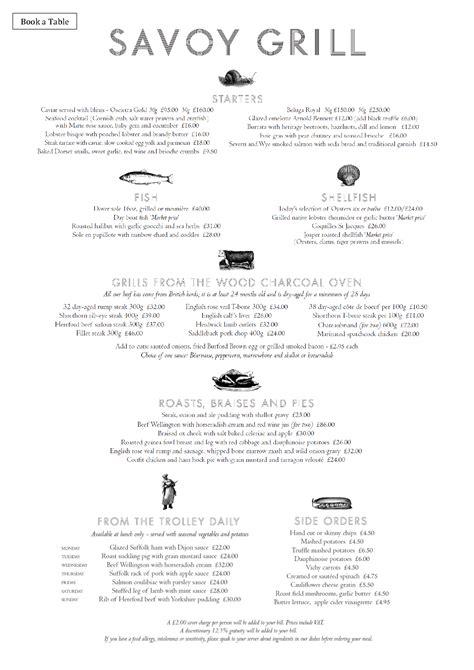 gordon ramsay dinner menu menus savoy grill gordon ramsay restaurants