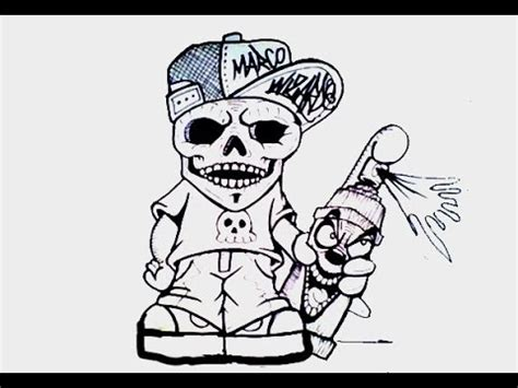 imagenes de calaveras grafitis how to draw graffiti skull character como dibujar una