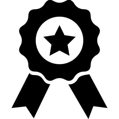 Medalla de premio con estrella y lazo - Iconos gratis de otro