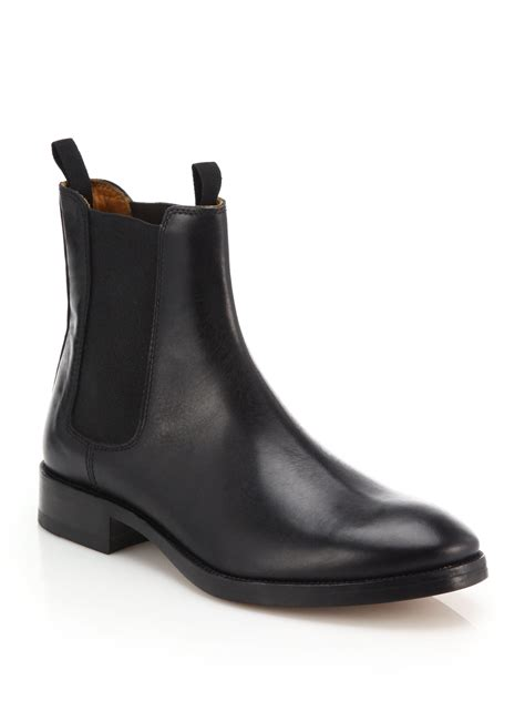 black leather chelsea boots acne studios bess classic leather chelsea boots in black