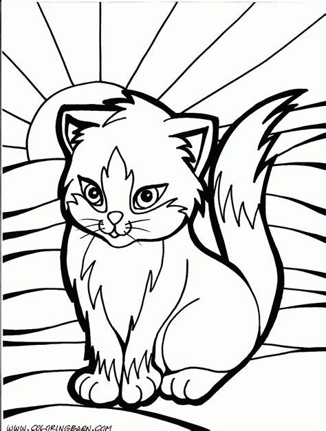 coloring pages to color cat color pages printable cat kitten printable coloring