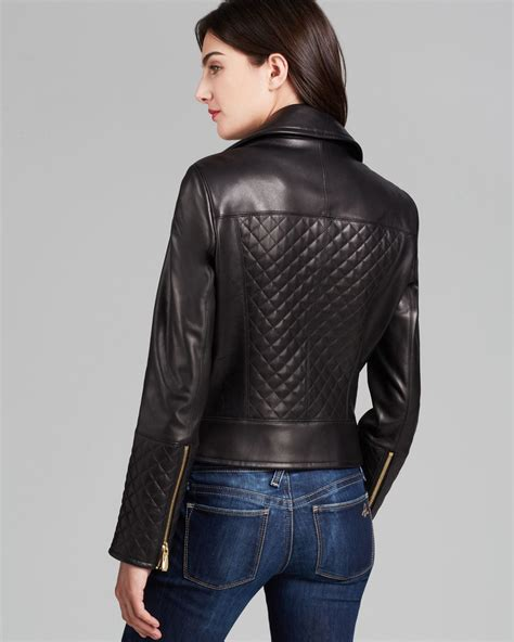 Calvin Klien Leather lyst calvin klein asymmetric zip quilted leather jacket