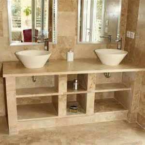 vasque en travertin adouci farn 232 se pour salle de bain ekolux