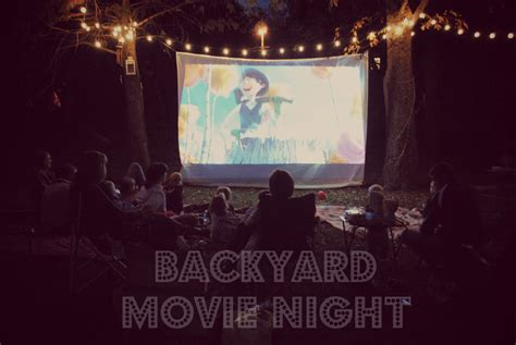 backyard movie night backyard movie night party outdoor furniture design and ideas