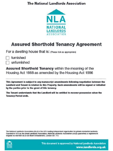 assured shorthold tenancy agreement template free download