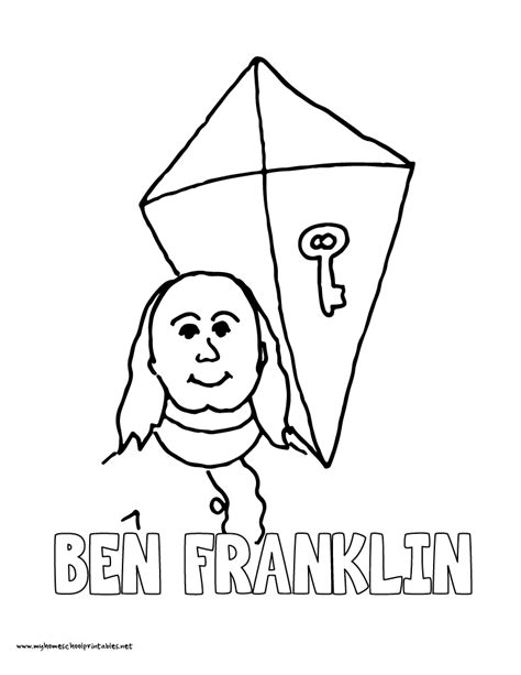 benjamin franklin coloring pages az coloring pages