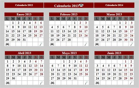 Calendario Meses Calendario 2013 Para Imprimir Completo O Por Meses Soft