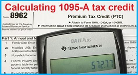 Credit Insurance Premium Formula How Is The 1095 A Monthly Aca Tax Credit Calculated