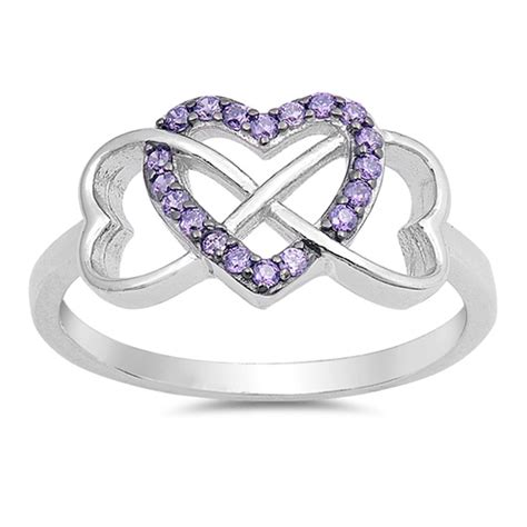 infinity promise ring new 925 sterling silver band
