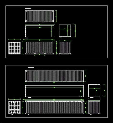 containers    ft dwg plan  autocad designs cad