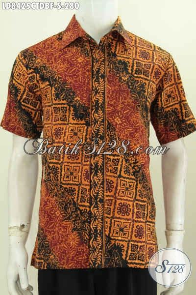 Hem Batik Katun Furing Pj Kemeja Batik Terbaru Batik Kantor M 2 baju kemeja batik lengan pendek istimewa bahan kain dolby