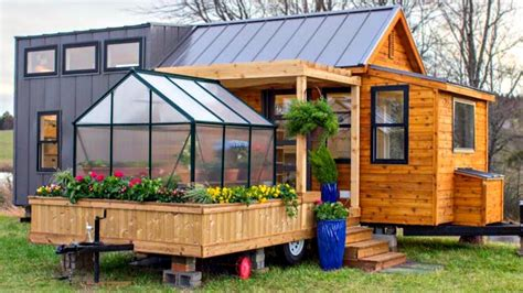 tiny homes with tiny porches small houses youtube luxury country tiny home comes w separate pergola trailer