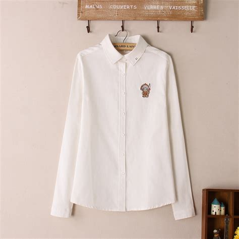 Blouse Murah High Quality 2016 high quality autumn vintage cotton white sleeve embroidery indian blouse