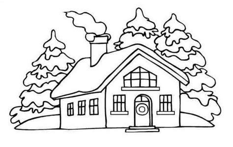 coloring pages of winter houses house coloring pages bestofcoloring com