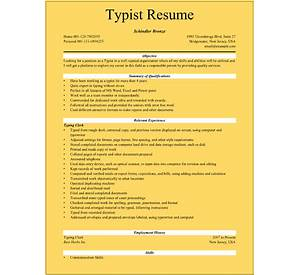 40 clerk typist resume samples jobhero - Typist Resume