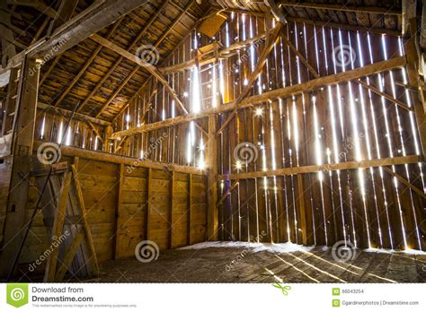 interior   rustic  barn stock photo image