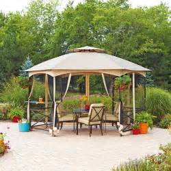 Walmart Patio Gazebo Mainstays Vineyard Gazebo With Glass Shelf 176 Quot X 114 Quot Walmart