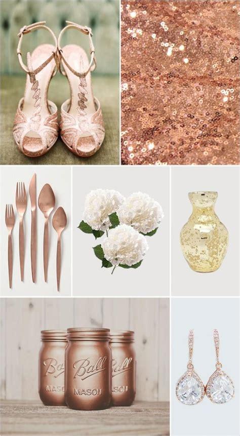 wedding themes with rose gold glamorous rose gold wedding ideas weddbook